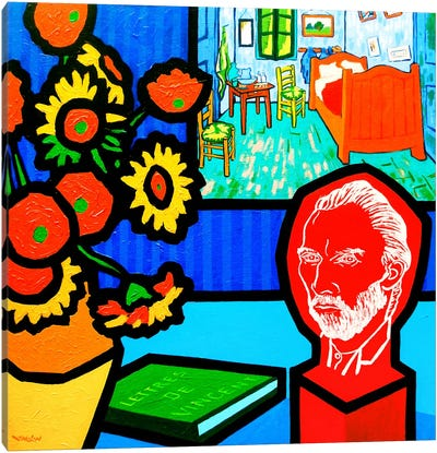Homage To Van Gogh #3 Canvas Art Print