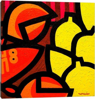Lobster And 5 Lemons Canvas Print #JNN18