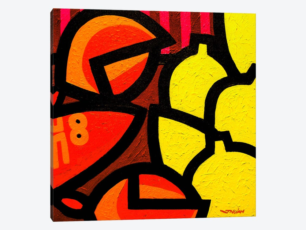 Lobster And 5 Lemons by John Nolan 1-piece Canvas Artwork