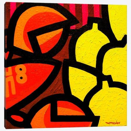 Lobster And 5 Lemons Canvas Print #JNN18} by John Nolan Canvas Art