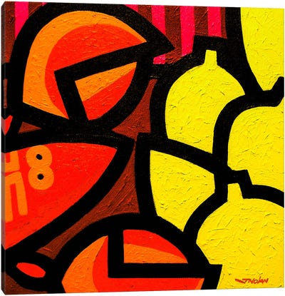 Lobster And 5 Lemons Canvas Art Print