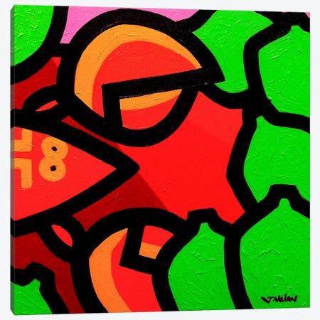 Lobster And Seven Limes Canvas Print #JNN19} by John Nolan Canvas Art