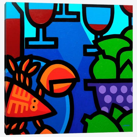 Lobster Wine And Limes Canvas Print #JNN20} by John Nolan Canvas Art Print