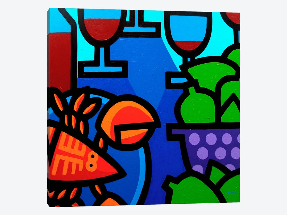 Lobster Wine And Limes 1-piece Canvas Art Print