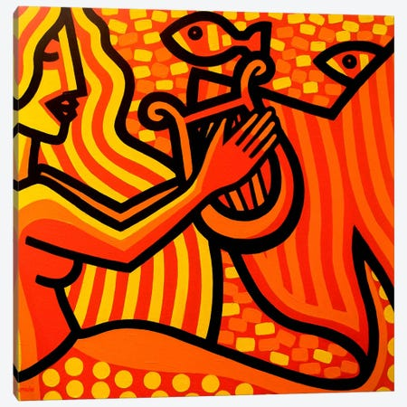 Mermaid Music Canvas Print #JNN21} by John Nolan Canvas Art Print