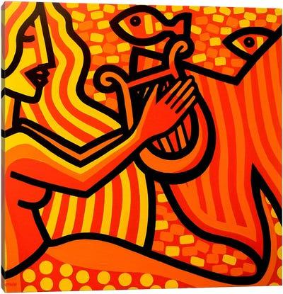Mermaid Music Canvas Print #JNN21