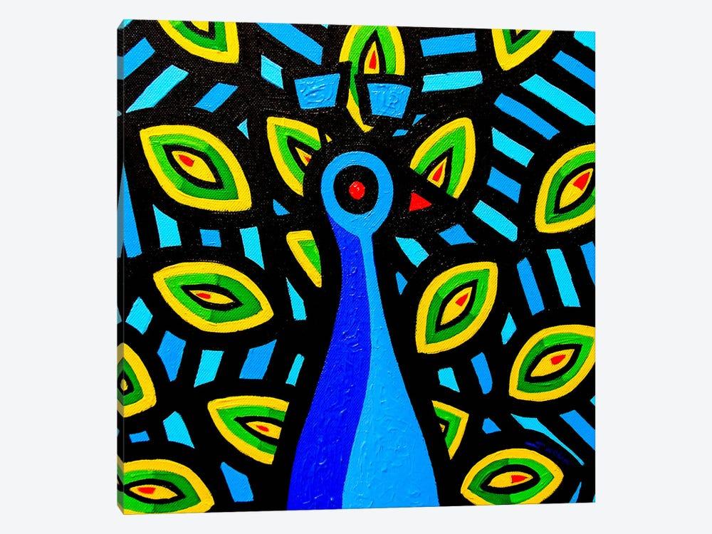Peacock #1 by John Nolan 1-piece Art Print