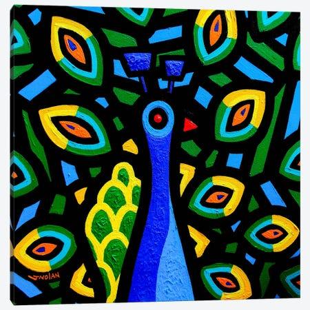 Peacock #2 Canvas Print #JNN25} by John Nolan Canvas Wall Art