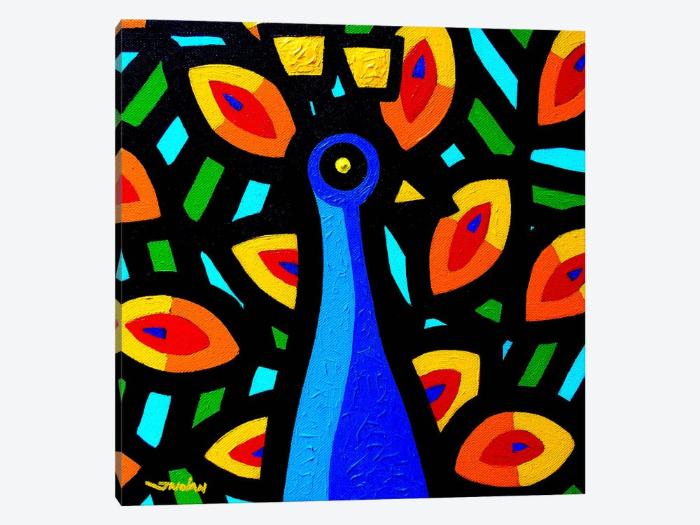 Peacock #3 by John Nolan 1-piece Canvas Print