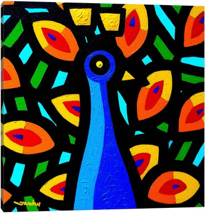 Peacock #3 Canvas Art Print
