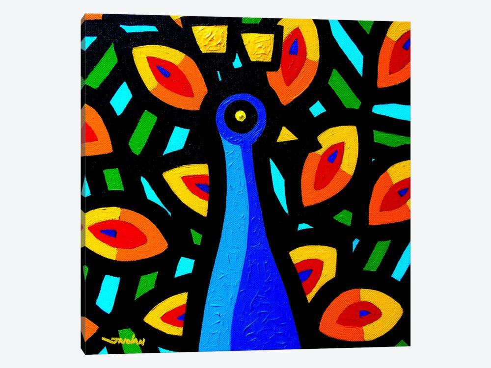 Peacock #3 by John Nolan 1-piece Canvas Print