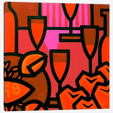 Poppies Apples Wine And Fish Canvas Print #JNN27} by John Nolan Canvas Wall Art
