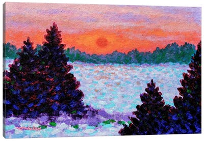 Snowscape Canvas Art Print