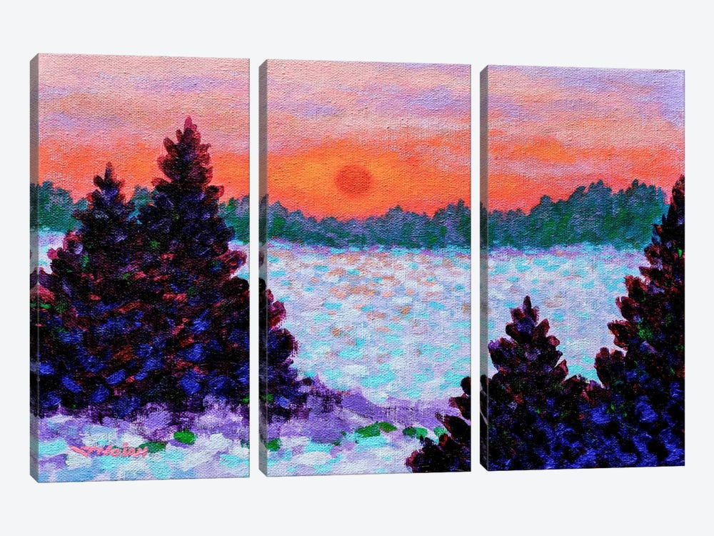 Snowscape by John Nolan 3-piece Canvas Wall Art