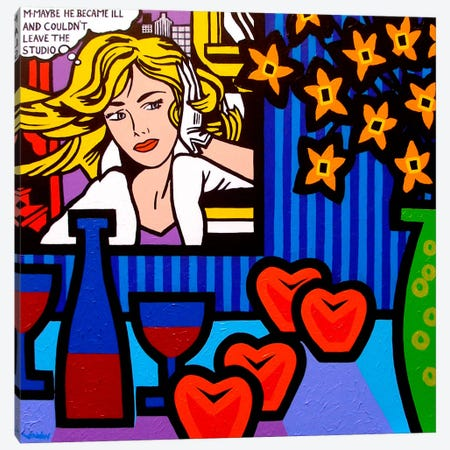 Still Life With Lichtenstein #2 Canvas Print #JNN34} by John Nolan Canvas Print