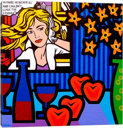 Still Life With Lichtenstein #2 Canvas Art Print