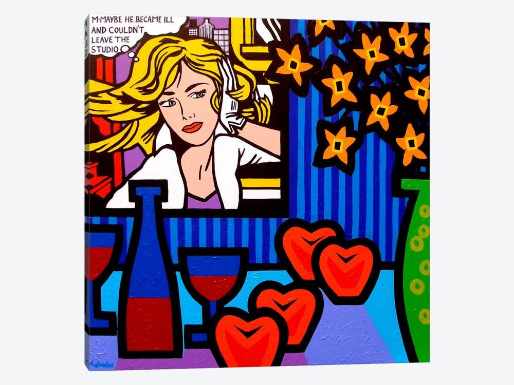 Still Life With Lichtenstein #2 by John Nolan 1-piece Canvas Art