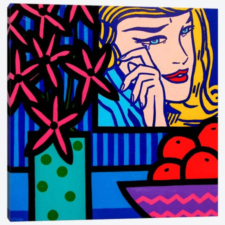 Still Life With Lichtenstein Crying Canvas Print #JNN35} by John Nolan Art Print