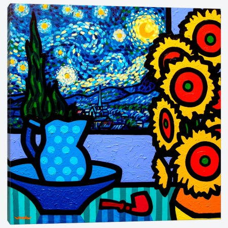 Still Life With Starry Night Canvas Print #JNN41} by John Nolan Canvas Art Print