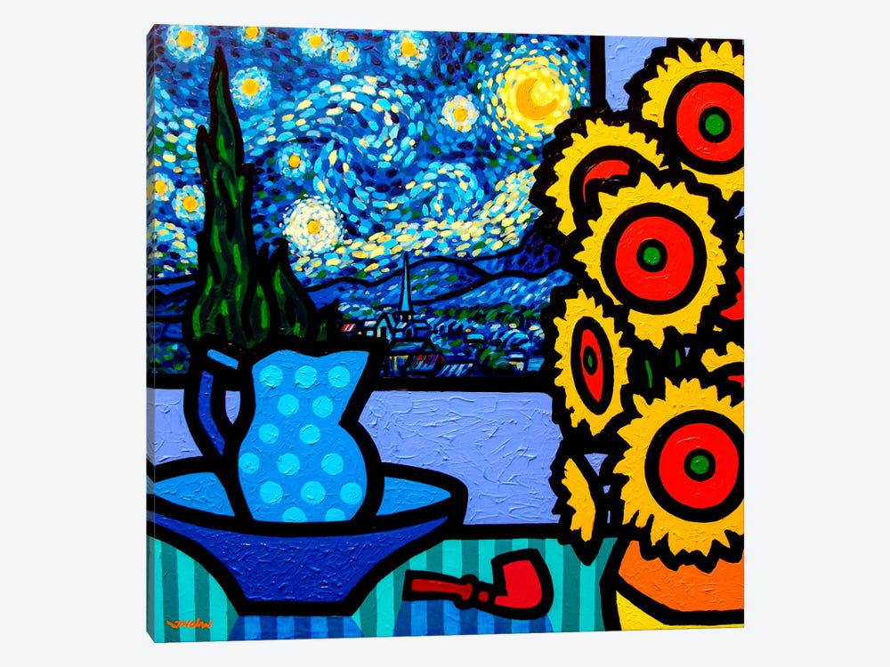 Still Life With Starry Night by John Nolan 1-piece Canvas Artwork