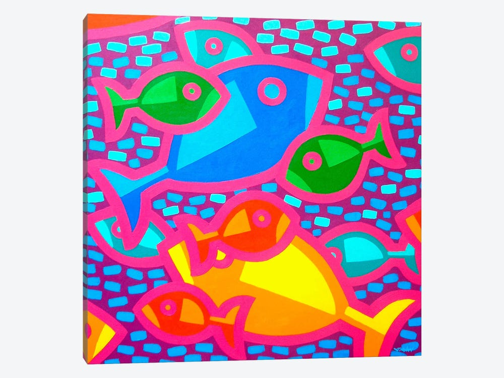 Funky Fish by John Nolan 1-piece Art Print