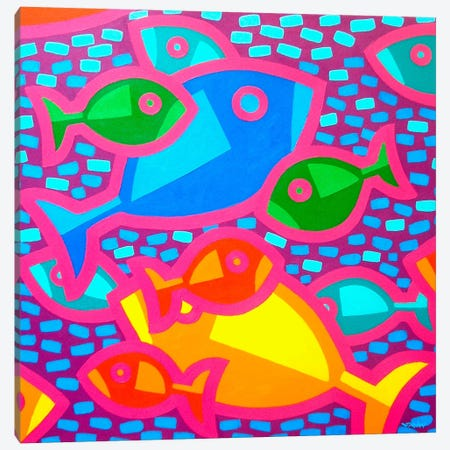 Funky Fish Canvas Print #JNN44} by John Nolan Canvas Art