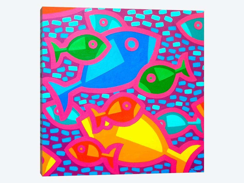 Funky Fish by John Nolan 1-piece Art Print