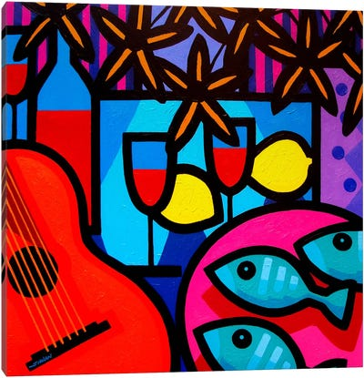 Still Life With Guitar Canvas Art Print
