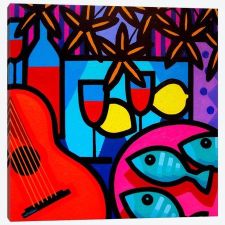 Still Life With Guitar Canvas Print #JNN47} by John Nolan Canvas Wall Art