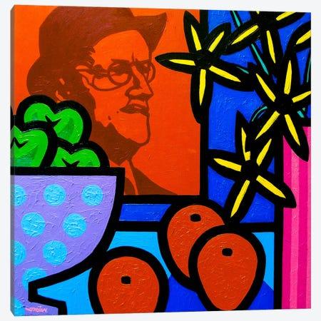 Still Life With James Joyce Canvas Print #JNN48} by John Nolan Canvas Art Print