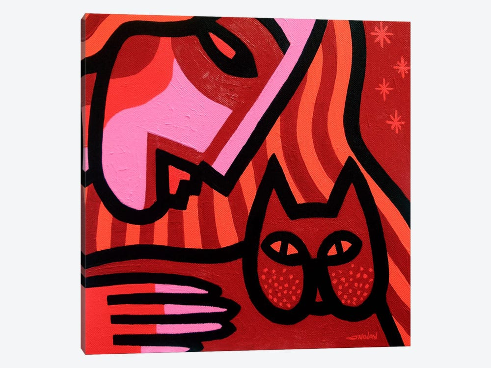 Cat Woman by John Nolan 1-piece Canvas Art Print