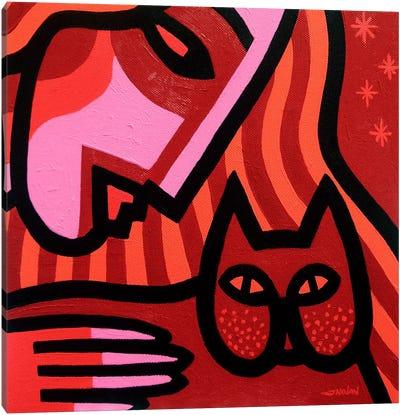 Cat Woman Canvas Art Print