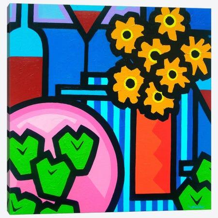 Still Life With Seven Apples 3-Piece Canvas #JNN51} by John Nolan Canvas Art