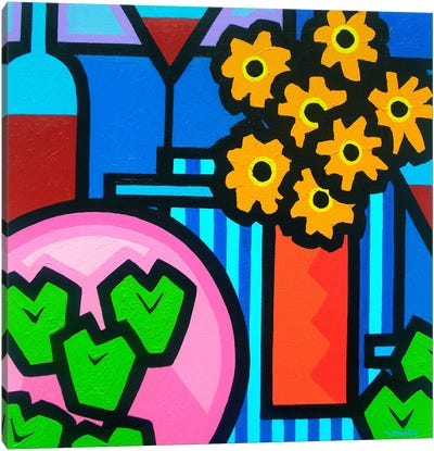 Still Life With Seven Apples Canvas Art Print