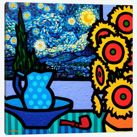 Still Life With Starry Night II Canvas Print #JNN52} by John Nolan Canvas Wall Art