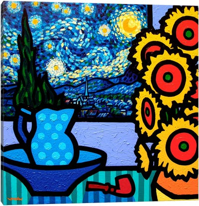 Still Life With Starry Night II Canvas Art Print