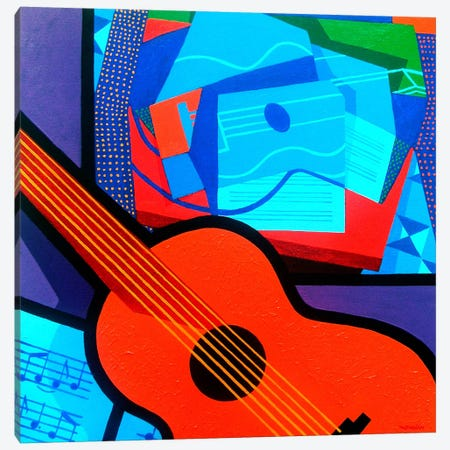 Homage To Juan Gris Canvas Print #JNN5} by John Nolan Canvas Wall Art