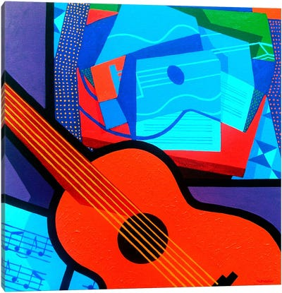 Homage To Juan Gris Canvas Art Print