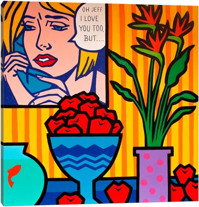 Homage To Lichtenstein And Canvas Print #JNN6