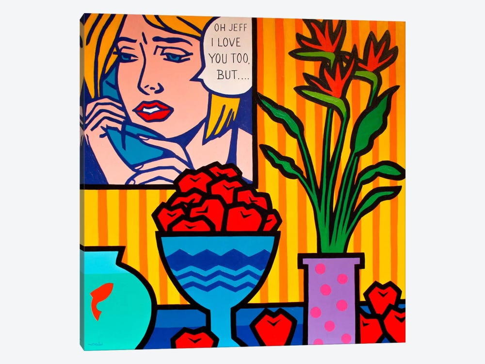 Homage To Lichtenstein And 1-piece Canvas Art Print