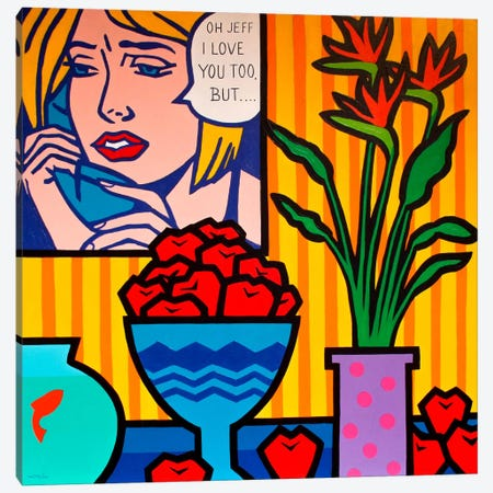 Homage To Lichtenstein And Canvas Print #JNN6} by John Nolan Canvas Artwork
