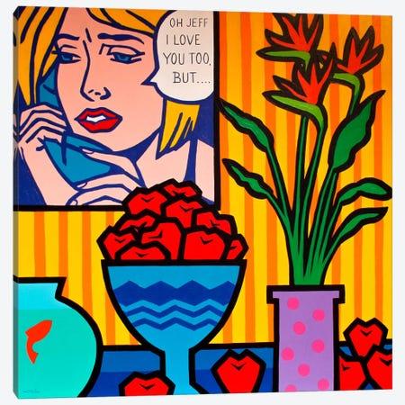 Homage To Lichtenstein And Canvas Print #JNN6} by John Nolan Canvas Artwork