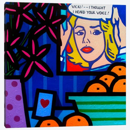 Homage To Lichtenstein Canvas Print #JNN7} by John Nolan Canvas Wall Art