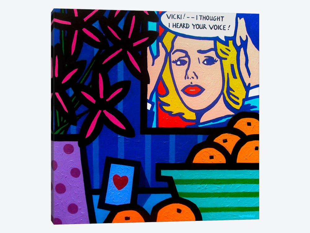 Homage To Lichtenstein by John Nolan 1-piece Canvas Wall Art