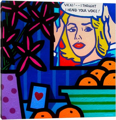 Homage To Lichtenstein Canvas Art Print