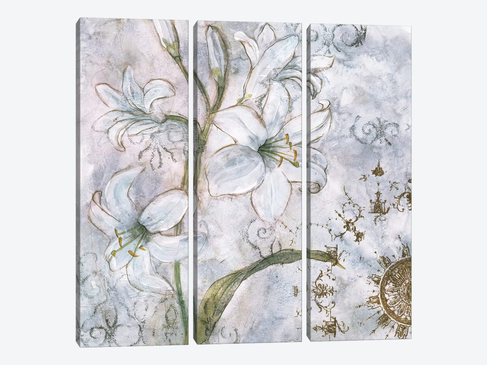 Floral Pearls I by James Nocito 3-piece Canvas Print