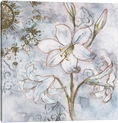 Floral Pearls II Canvas Art Print