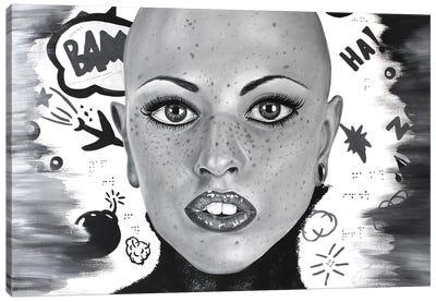 Freckled Woman Canvas Art Print