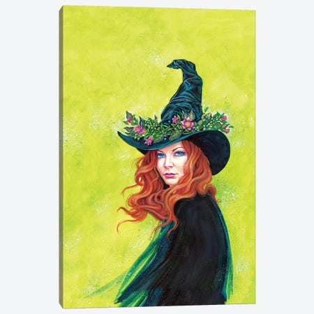Belladonna On A Pretty Witches Hat Canvas Print #JNW10} by Jane Starr Weils Canvas Print