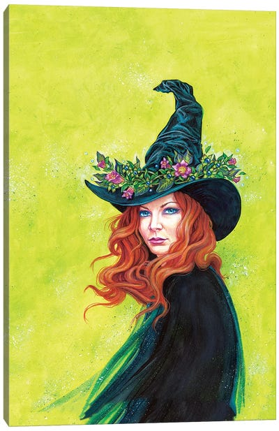 Belladonna On A Pretty Witches Hat Canvas Art Print